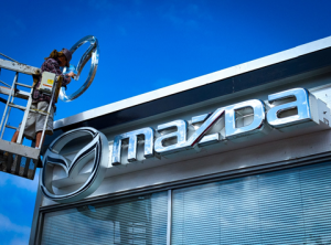Mazda Custom Business Signs